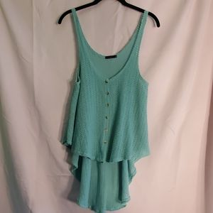 2/$20 teal knit tank one size